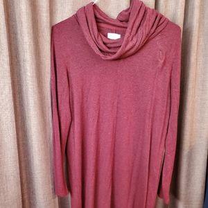 LOFT Lou & Grey Cowl Neck Tunic Sweatshirt